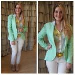 Look do Dia: Blazer Verde Piscina